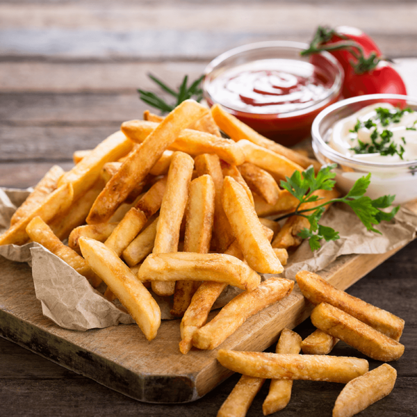 Our delicious French fries are deep-fried 'till golden brown, with a crunchy exterior and a light fluffy interior. Seasoned to perfection