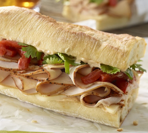 Turkey & Ham with Cheese Sandwich Catering